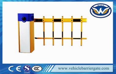 Çin 6 Meter IP44 Automatic Barrier Gate Parking Lot Retractable Barrier Gates With Wire Control Tedarikçi