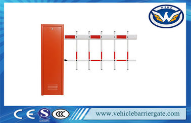 Çin Vehicle Car Automatic  Barrier Gate Access Control with Two Fence Boom Tedarikçi