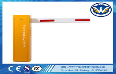 Çin Yellow Electric Motor Vehicle Barrier Gate AC220V Drop Arm Barrier Gate Tedarikçi