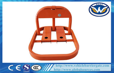 Çin Orange Auto Parking Lock Car Parking Locks for Manual Opening and Closing Fabrika