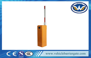 Çin Orange Intelligent Automatic Road Boom Barrier Gate With Limit Switch Fabrika