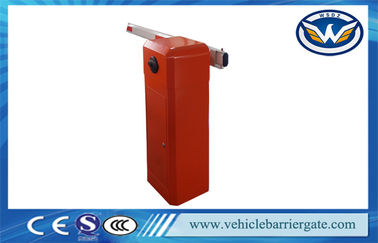 Çin Red Intelligent Automatic Road Boom Barrier Gate With Limit Switch Fabrika