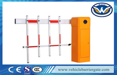 Çin Remote Control Car Park Barriers With Fence Arm , 220V AC Motor Gate Barrier Fabrika