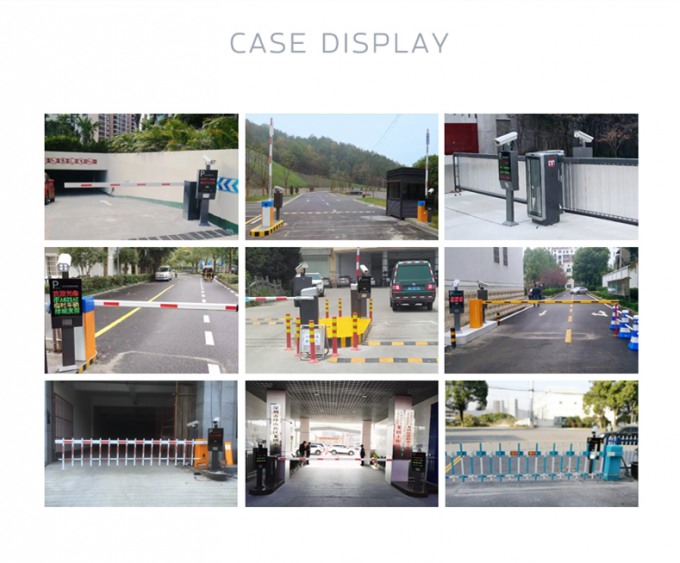 Custom Security Motorized Vehicle Barrier Gate Systems Ce Iso Certificate