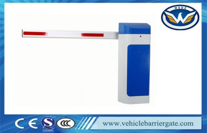 Automatic Close 1.5s Vehicle Barrier Gate Heavy Duty Motor With LED And Rubber Arm