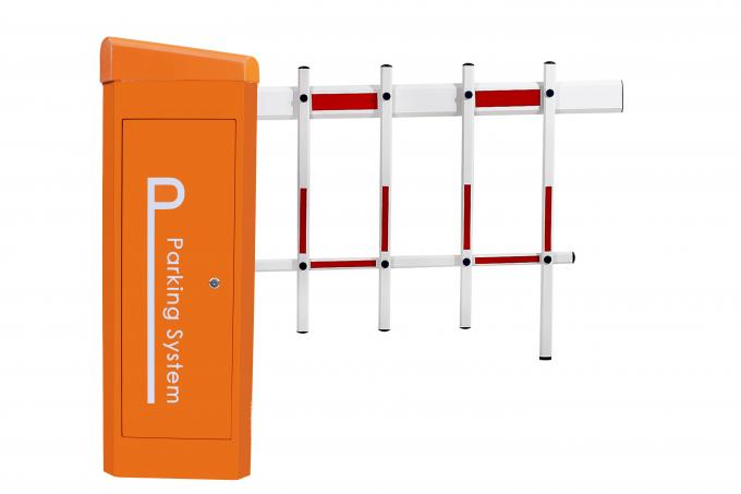 DC Backup Battery Barrier Gate Arm with 2 Fence / Remote Control Toll Barrier Gate